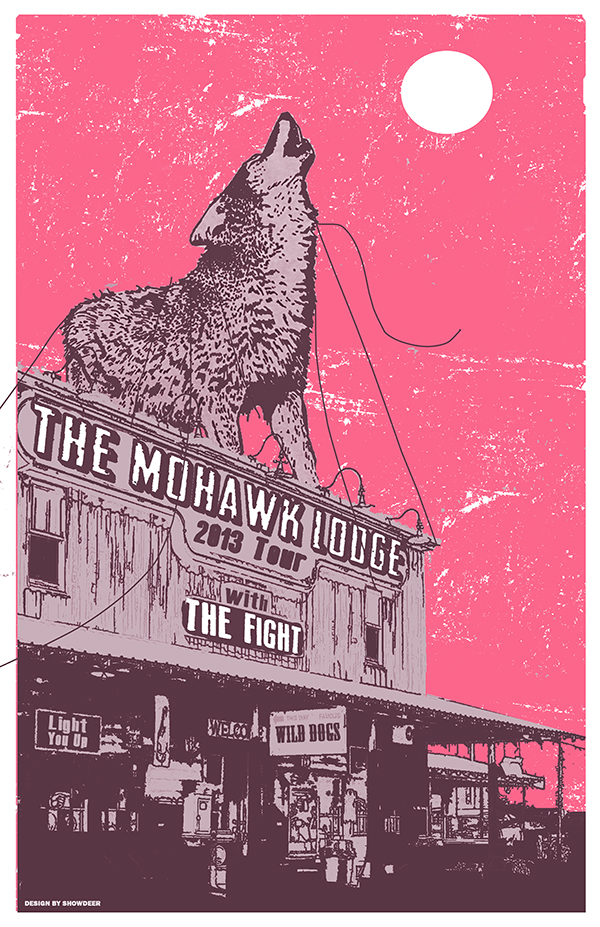 The Mohawk Lodge & The Fight - Tour Poster